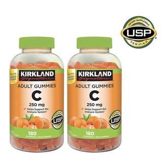 [Bill Mỹ/có sẵn giao liền] Kẹo dẻo vitamin C Kirkland 250mg dành cho người lớn 180 viên