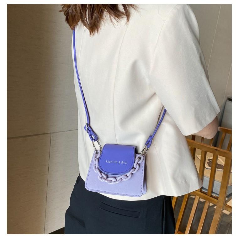 Túi đeo chéo nữ  𝑭𝑹𝑬𝑬𝑺𝑯𝑰𝑷  Túi xách nữ mini phối màu Fashion & Bag TD13