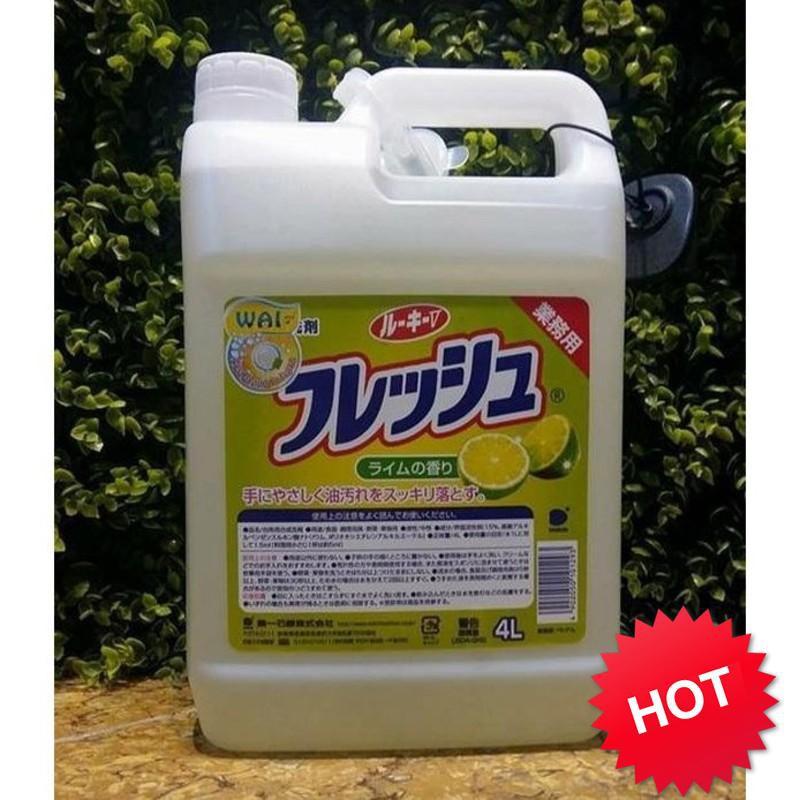 [ Hàng Hot]  Nước rửa bát WAI Nhật Bản hương chanh 4L