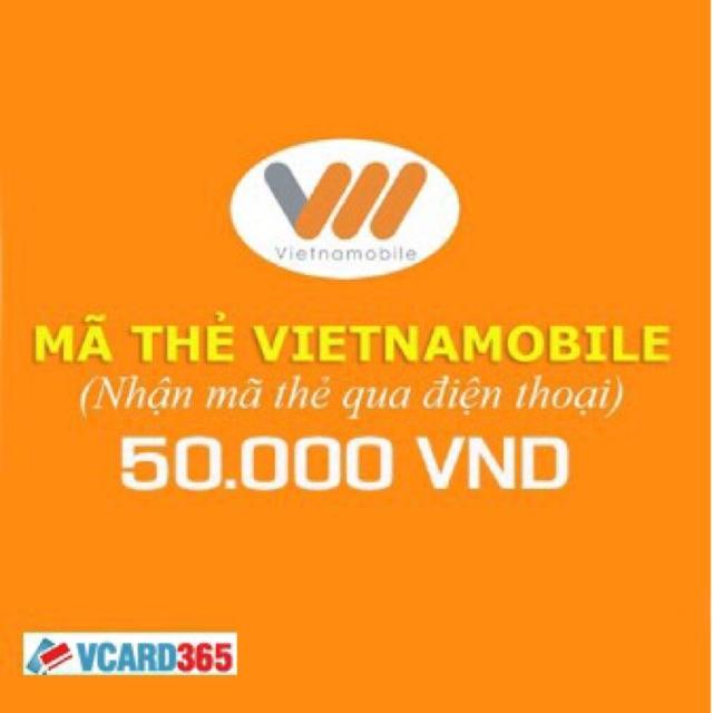 thẻ vietnamobile 50k