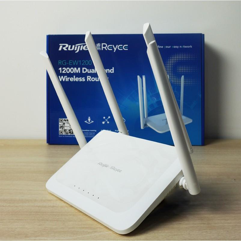 Bộ phát WiFi Mesh Ruijie Reyee RG - EW1200 & EW1200G PRO Dual band AC1300 Dùng cho gia đình văn phòng - Chính hãng BH36T
