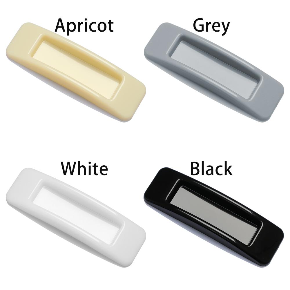 1 Cặp Tay Nắm Cửa Tủ Bằng Nhựa Tự Dính Đa Năng Màu Trắng / Đen