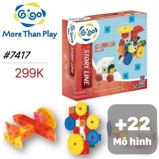 Đồ chơi lắp ráp Xe hơi mini 24 mô hình 51 miếng ghép 7417 Gigo toys