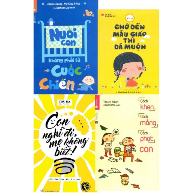 sách-Combo 4 cuốn nuôi dạy con