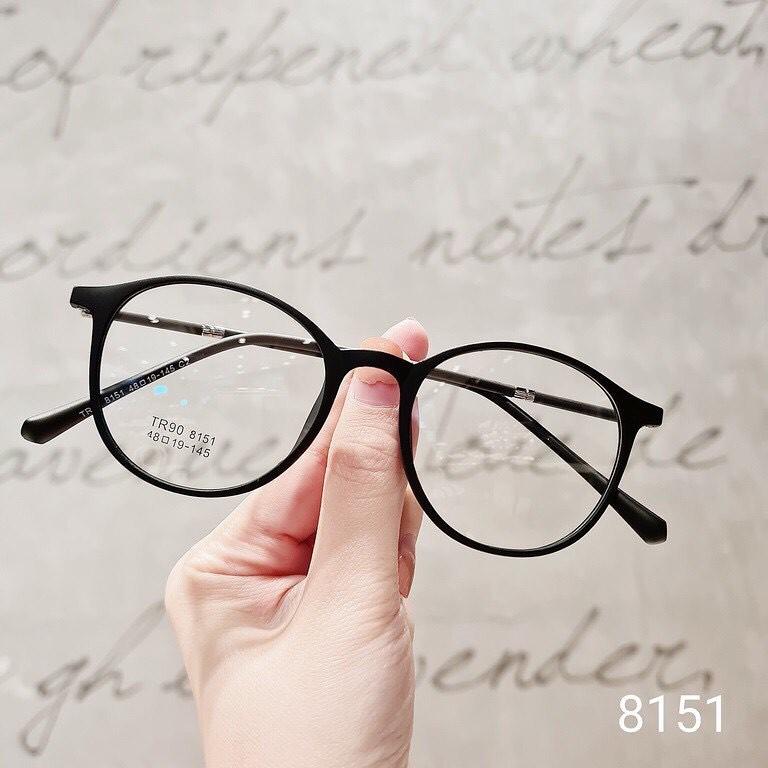 [Nhận Cắt Tròng Cận, Loạn, Viễn] Gọng Kính Cận Nhựa Dẻo Form Dáng Tròn 8151 - Moss Eyewear