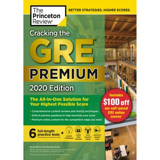 Nhận xét Cracking the GRE Premium Edition with 6 Practice Tests, 2020