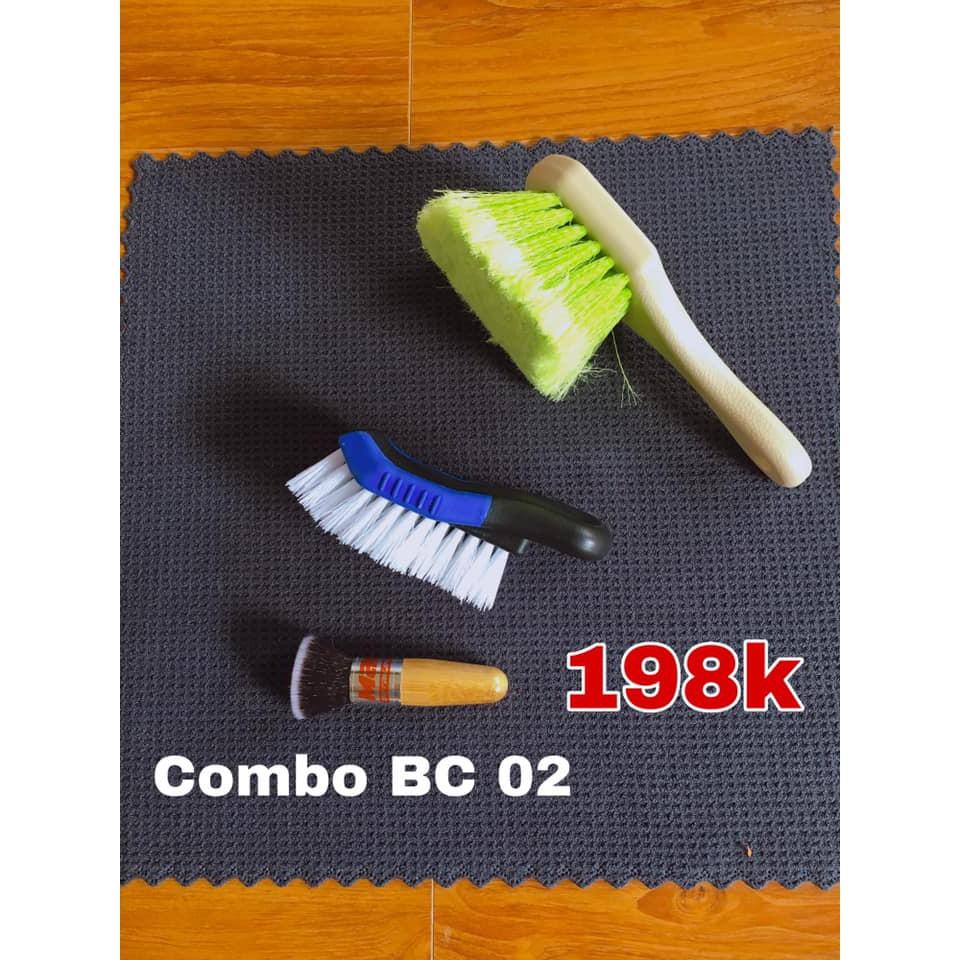 Combo BC 02 ( bàn chải cọ lốp, vệ sinh nội thất cửa gió)