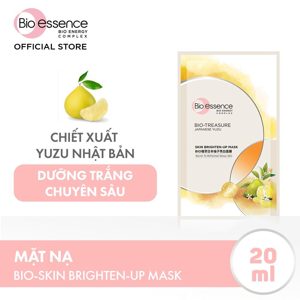 Mặt nạ dưỡng trắng chuyên sâu Bio-Essence Skin Brighten-Up Mask chiết xuất Yuzu 20ml