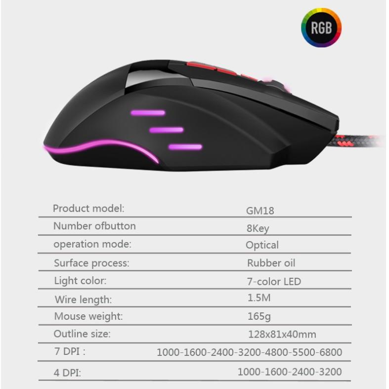 Chuột gaming GM02 BLOODCAT tích hợp đèn led 7 màu , chuột GM02 BLOODCAT led 7 màu cho game thủ