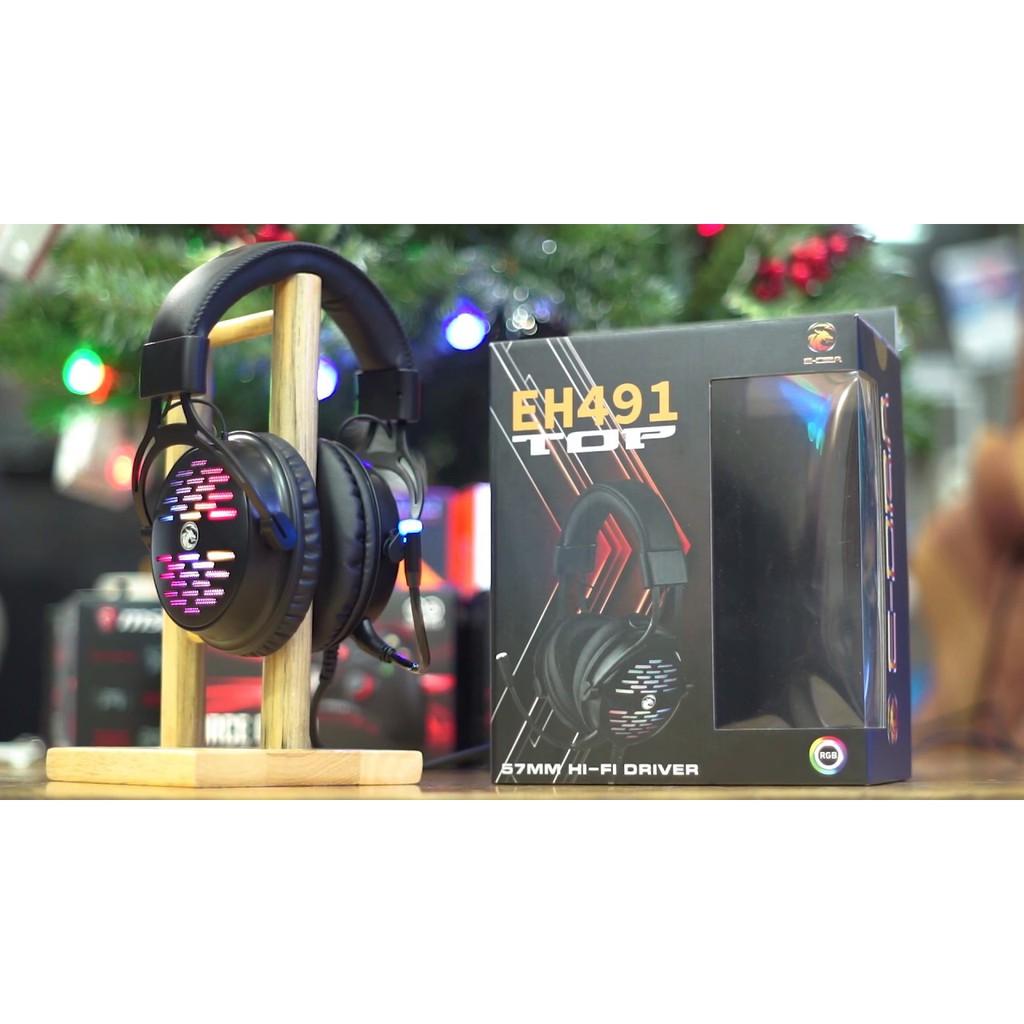 Tai nghe Gaming E-Dra EH491 Chơi PUBG, CS:GO Âm Thanh Giả Lập 7.1 Dải LED RGB  Có Dây Bảo hành 24 tháng