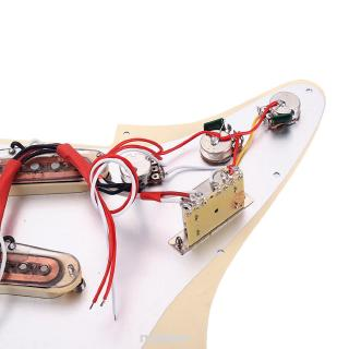 Home Durable Electric DIY Accessories With Alnico V Magnet Control Knobs Guitar Loaded Pickguard