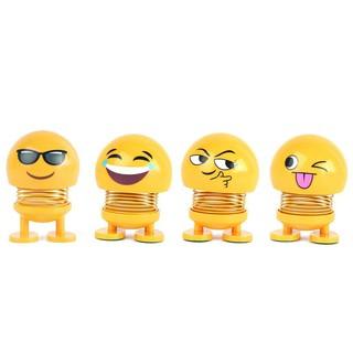 [CHINH HANG] Combo 6 con Emoji biểu cảm lò xo lắc đầu – Siêu Chất – Siêu Vui