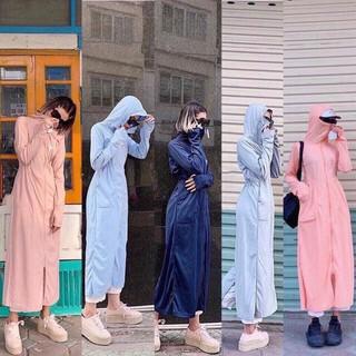 Áo chống nắng nữ toàn thân, thông hơi, chống tia UV, làm mát cơ thể, khử mùi, thoát khí