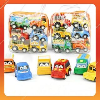 [Nhập mã TOYAUG hoàn 10% tối đa 15K xu cho đơn từ 99K]Set 6 ô tô mini chạy cót cho bé trai .