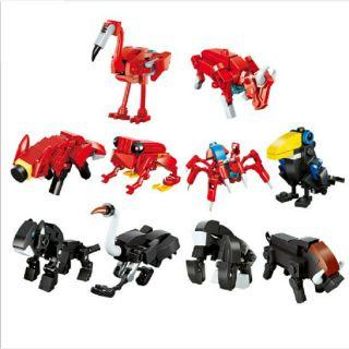 [Mã TOYFSS giảm 10% tối đa 15K] Combo 10 bộ lắp ráp lego mini – mô hình các con vật