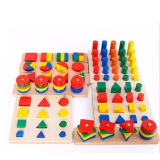 Đồ chơi giáo dục – Bộ học montessori 8 món