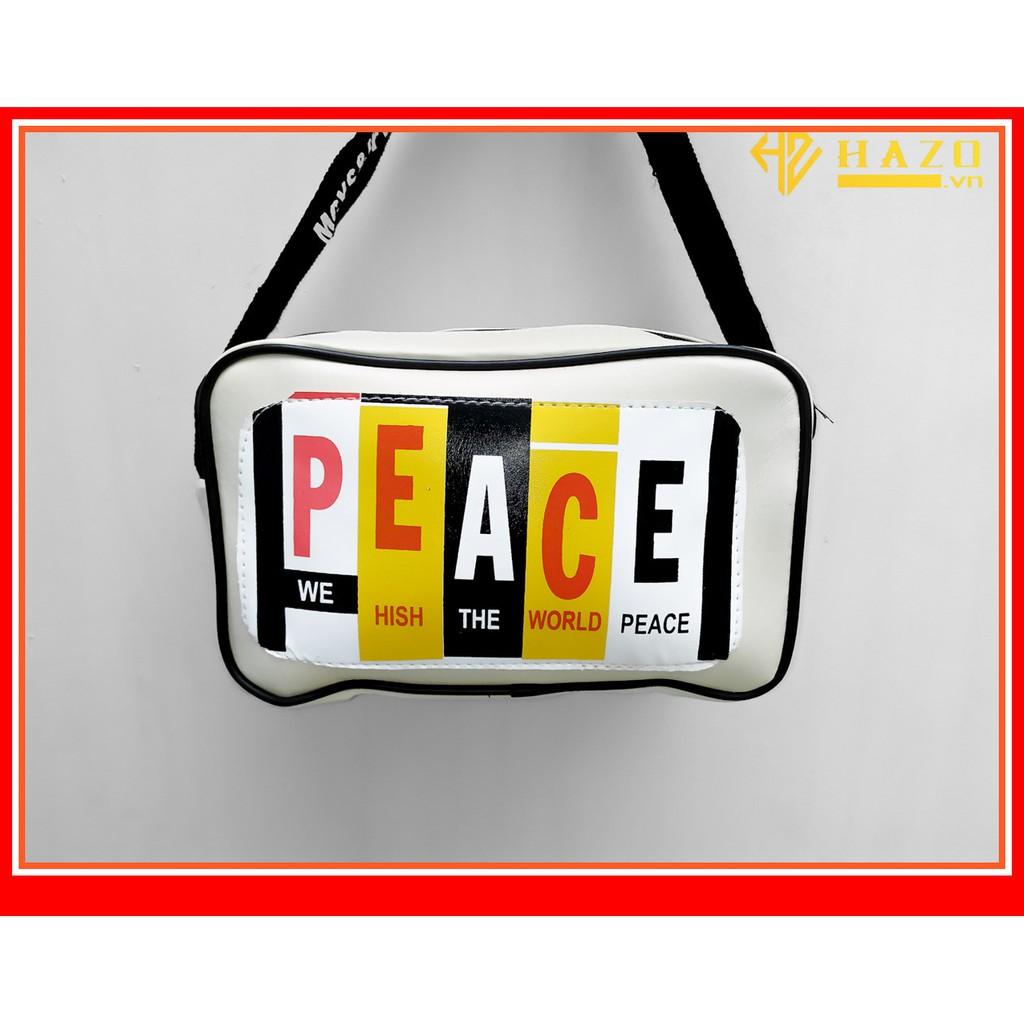 [CỰC ĐẸP] TÚI ĐEO CHÉO CHẤT DA MẪU VUÔNG PEACE