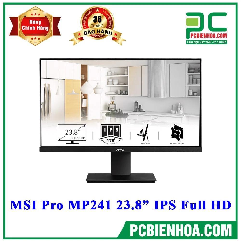 """[Mã ELMIDNIGHT giảm 7% đơn 2TR] MÀN HÌNH MSI PRO MP241 23.8"""" IPS FULL HD"""