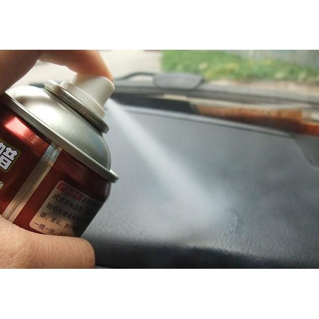 Chai xịt dưỡng bóng lốp xe, nội thất da, nhựa đen Botny 450ml