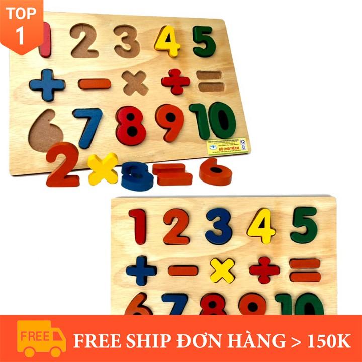 [Đồ chơi sáng tạo] [Nhập mã TOYBRAND7 giảm 70K]Bảng 10 Số Nổi Và Phép Tính Bằng Gỗ Thông Minh Thành...