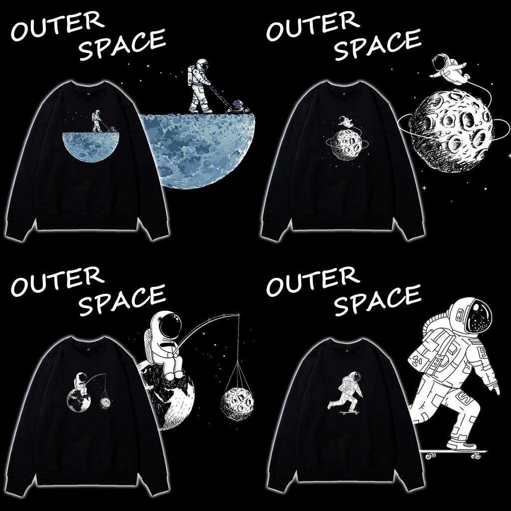 Áo sweater - Áo nỉ bông tay dài UNISEX OUTER SPACE