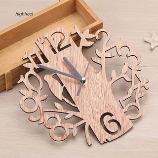Đồng hồ treo tường họa tiết cây và chim xinh xắn dùng để trang trí nội thất