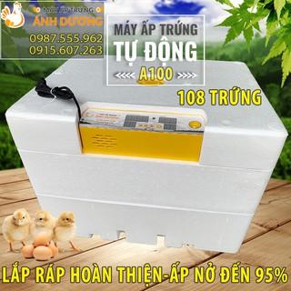Máy ấp trứng Tự Động 108 quả khay nhựa, Máy hoàn thiện thùng nhựa ABS cao cấp