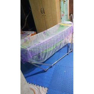 Mùng chụp lên võng xếp, võng lưới chống côn trùng, chống muỗi cho bé