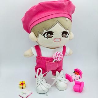 Outfit doll yếm nhung màu hồng cực dễ thương