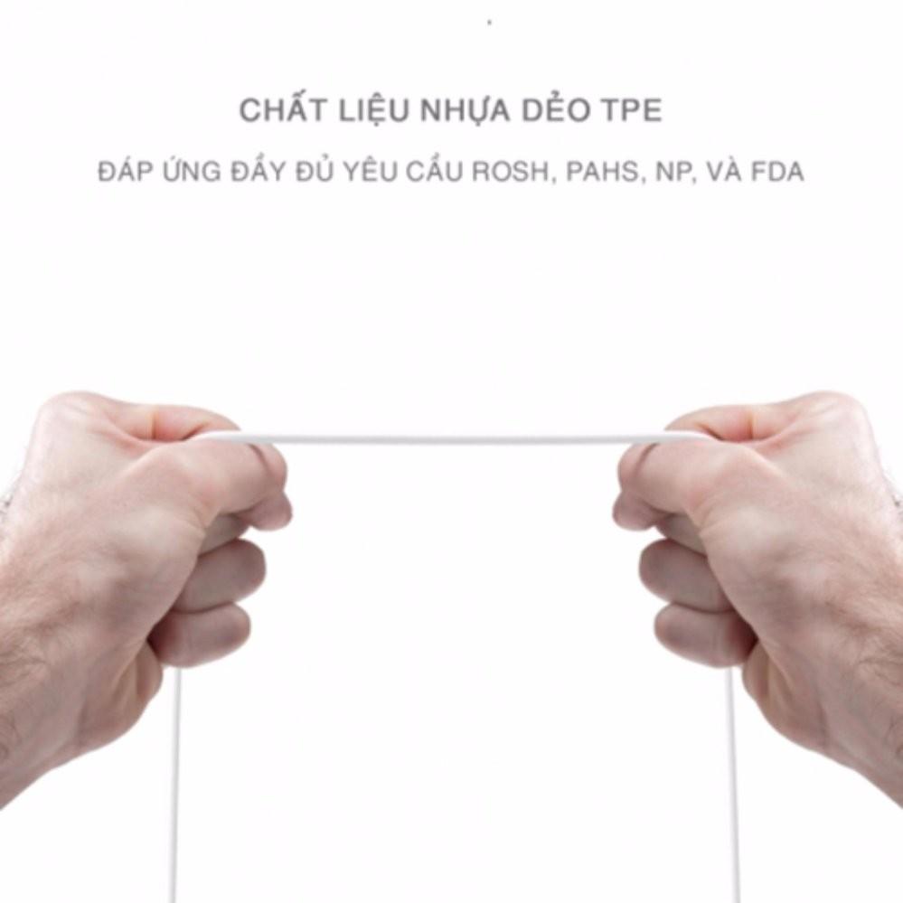 [ Deal Shock ] CÁP SẠC SỢI ĐỒNG MẠ THIẾT BAGI CHO IPHONE, IPAD DÀI 1.5M ( MÀU TRẮNG )