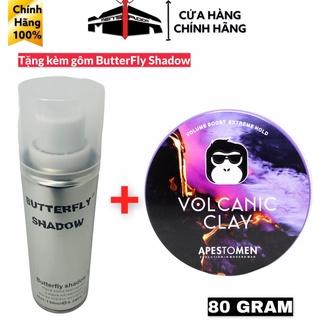 Sáp vuốt tóc Volcanic Clay V5 2021 Nắp Nhôm Chính Hãng,Tặng kèm gôm xịt tóc ButterFly Shadow