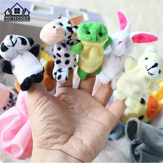 HD 10Pcs/Pack Baby Kids Animal Finger Plush Toys Educational Story Cloth Puppets