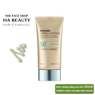 (AUTH_Korea)Kem Chống Nắng Nâng Tông Dịu Da POWER LONG LASTING GREEN Tone Up Sun Cream THE FACE SHOP 50ml