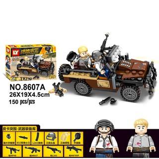 Lắp ráp Lego Pubg 9 nhân vật & Xe trong game 2018 593 mảnh ghép