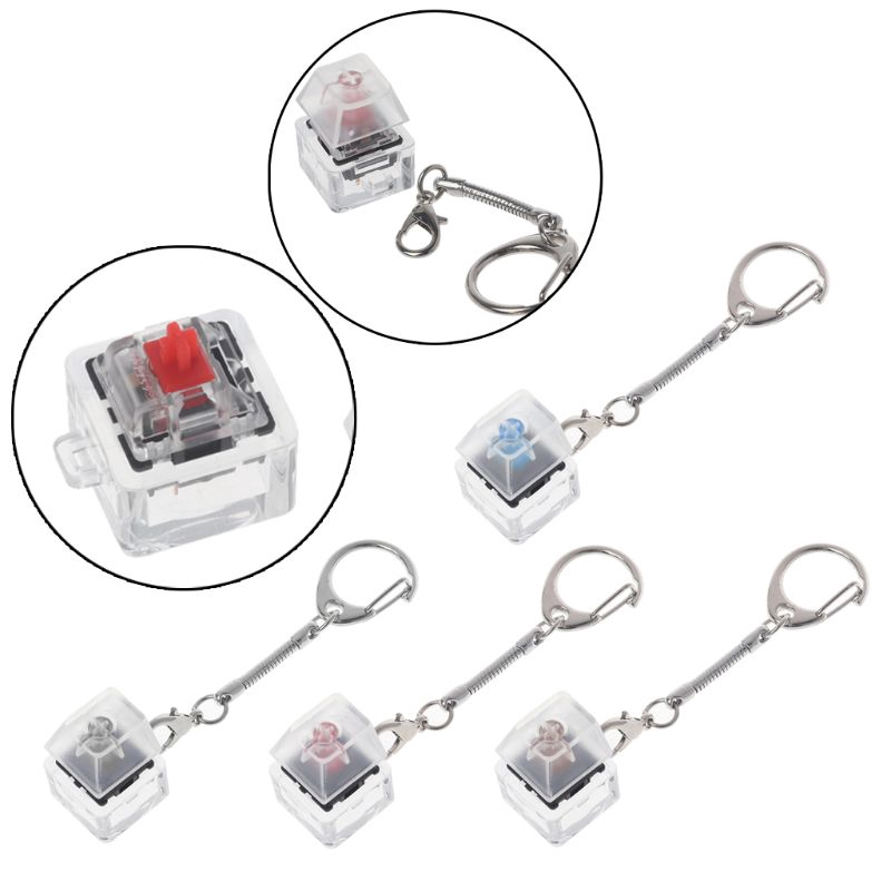 timetogether*Gateron MX Switch Mechanical Switch Keychain For Keyboard Switches Tester Kit
