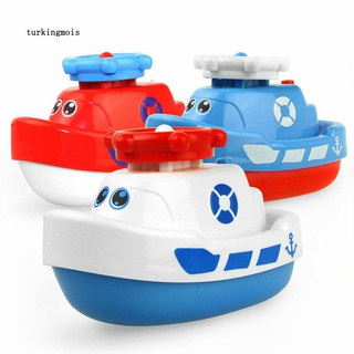TK-Marine Animal Model Bath Toy Baby Toddler Bathroom Electric Spray Water Boat