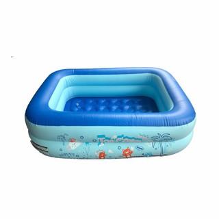 XẢ HÀNG SALE 50 %COMBO 2 CÁI Bể bơi phao 2 tầng Ice Cream cho bé 115x85x35cm
