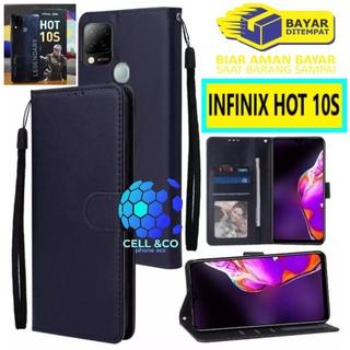 Bao da điện thoại nắp lật kiểu ví tiền cho INFINIX HOT 10S thumbnail