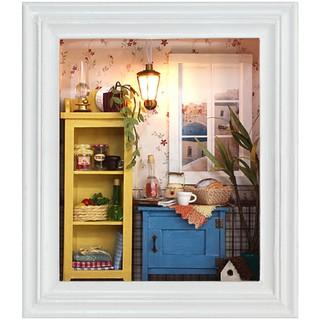 Mô hình nhà búp bê gỗ – Khung tranh treo tường căn phòng nhỏ xinh xắn (N09-C)