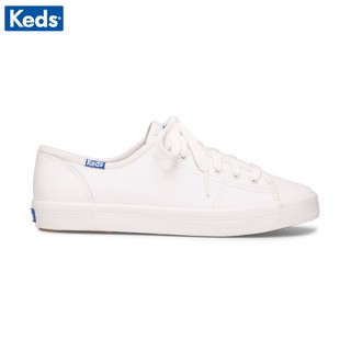 Giày Keds Nữ - Kickstart Retro Court Leather White/Blue - KD057559
