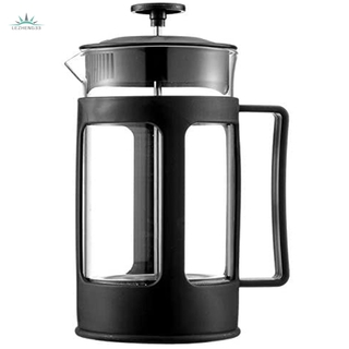 Glass French Press Coffee Tea Maker, 600Ml Coffee Press, Borosilicate Glass with Heat Resistant Handle