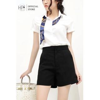 Quần short nữ cúc bọc cạp cao H&P TT-HOT - MSF 255 thumbnail