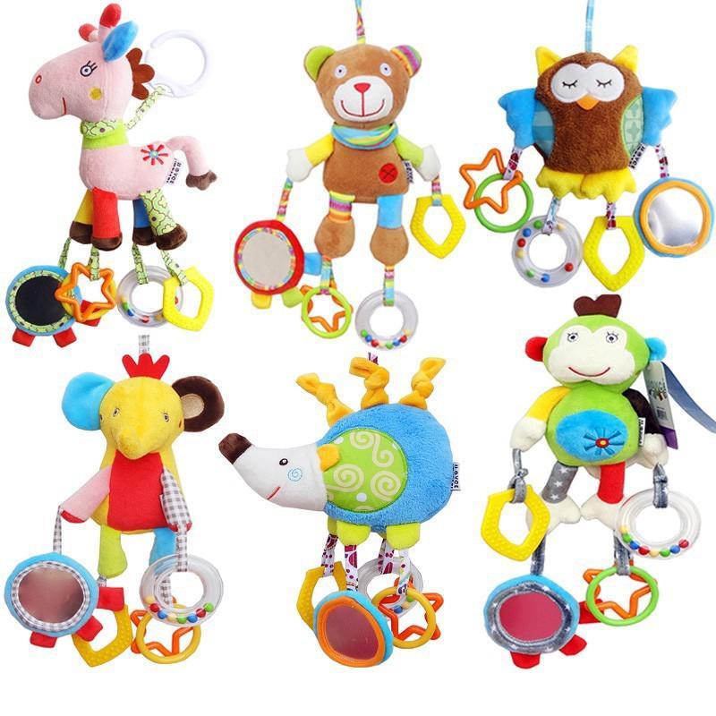 Đồ chơi treo xe đẩy em bé hình động vật