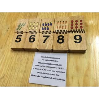 Ghép hình số tương ứng bằng gỗ xịn