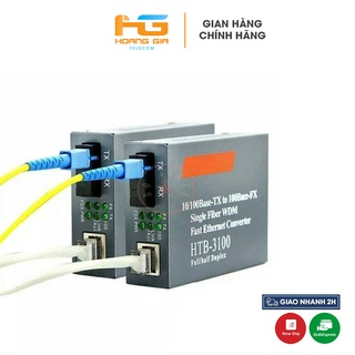 Bộ Chuyển Đổi Quang Điện NetLink HTB-3100 A B 100Mbps 1 Sợi 1 Cổng LAN thumbnail