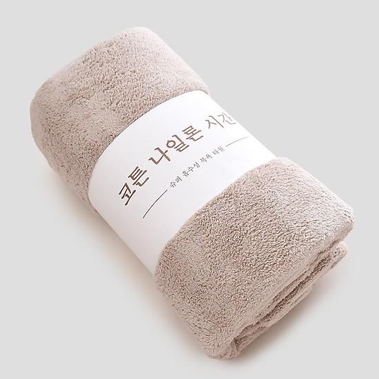Khăn tắm bông Hàn Quốc 1m4x70cm êm mịn (có ảnh thật)