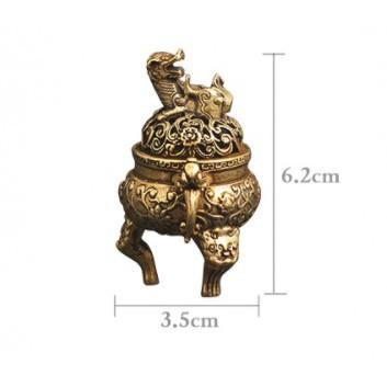 Tượng Đồng: Lư Hương - Xông trầm - Dụng cụ cắm nhang -  chất liệu đồng nguyên khối - Đẹp, độc, lạ