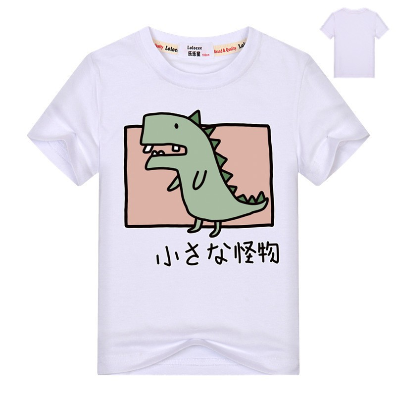 Boys Dinosaur T Shirts Cotton Short Sleeve Graphic Tees Little Monster Tops