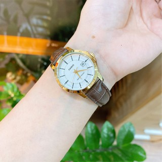 Đồng hồ nữ dây da chính hãng Casio Anh Khuê LTP-V004