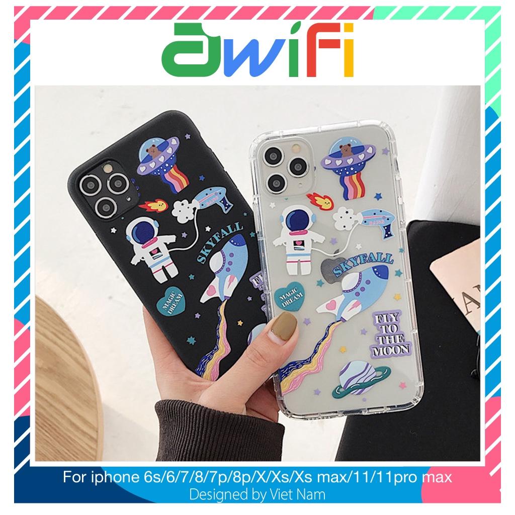 Ốp iphone - Ốp lưng Skyfall trơn 5/5s/6/6s/6plus/6s plus/7/8/7plus/8plus/x/xs/xs max/11/11pro max - Awifi Case G6-7